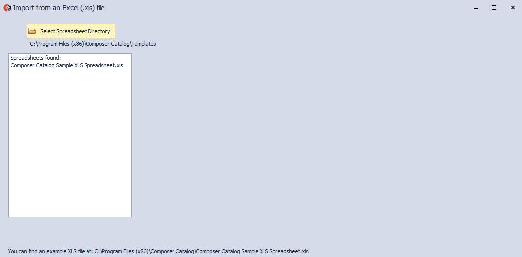 Windows Composer Catalog Help