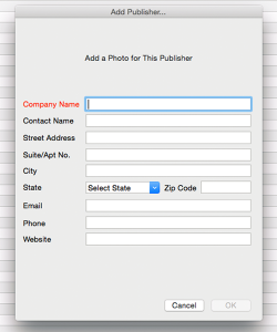 Add New Publisher